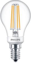 Philips Filament Klot LED 5W/827 (40W) E14 dimbar - Klar