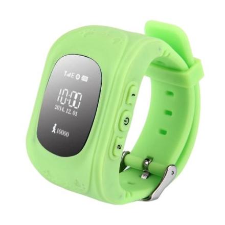 Sporingsklokke GPS Barn - Grønn