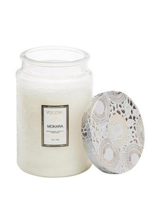 Voluspa Large Glass Jar Candle Mokara