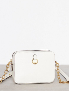 Lauren Ralph Lauren Small Camera Crossbody Cream
