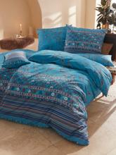Bettwäsche-Garnitur, ca. 135x200cm Bassetti blau