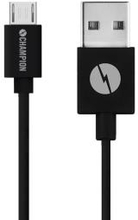 Champion Ladd&Synk kabel MicroUSB 3m Sv