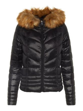 VERO MODA Hooded Puffer Jacket Women Black