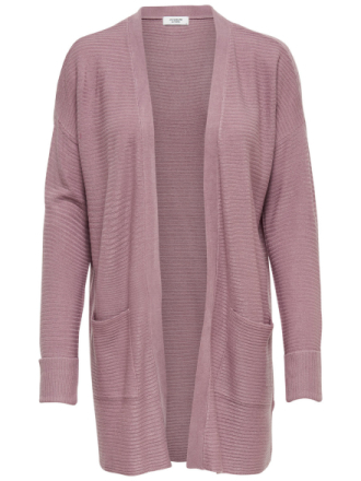 ONLY Long Knitted Cardigan Women Pink