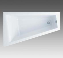 Ifø Acryllic badekar 1600mm asymmetrisk med rett kant, venstre modell
