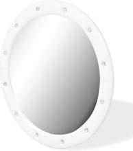 vidaXL Väggspegel konstläder 80 cm blank vit