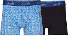 Lækre Claudio Cotton Stretch Tights 2-pak blå med mønster