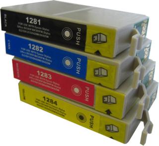 Paket 4st kompatibla patroner till Epson T1285 (C13T12854012)
