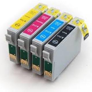 Paket 4st kompatibla patroner till Epson T0715 (C13T07154010)