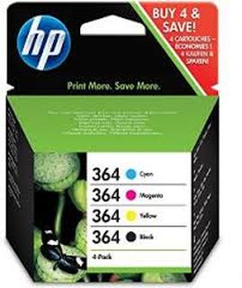 Paket 4 st Bläckpatroner HP 364