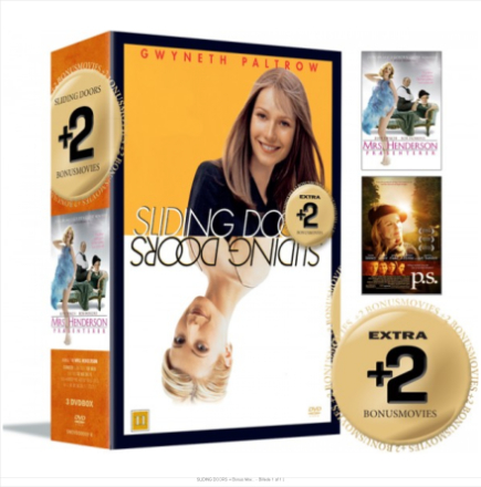Sliding Doors+ bonus movies - Mrs. Henderson presents / P.S. - DVD