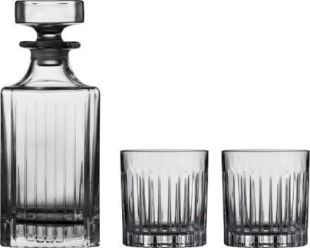 Lyngby Glass Whiskysett 3 dlr Mayfair krystall