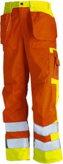 blåkläder hantverksbyxa varselbyxa orange gul