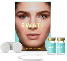 Swati Farvede Kontaktlinser Turquoise 6 Måneder 1 par