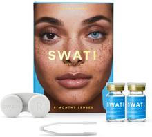 Swati Farvede Kontaktlinser Aquamarine 6 Måneder 1 par