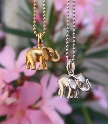 GD 1370 Lykkeelefanten sølv