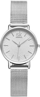 SK Petite Mesh Wave Sølv 30mm Dameur - SK Shengke