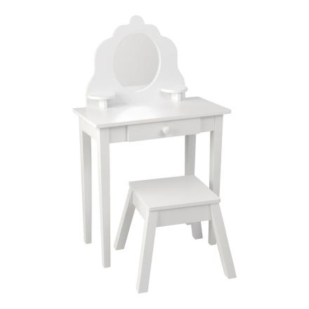 KidKraft, Sminkbord med Pall Vit