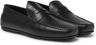 City Gommino Leather Penny Loafers - Black