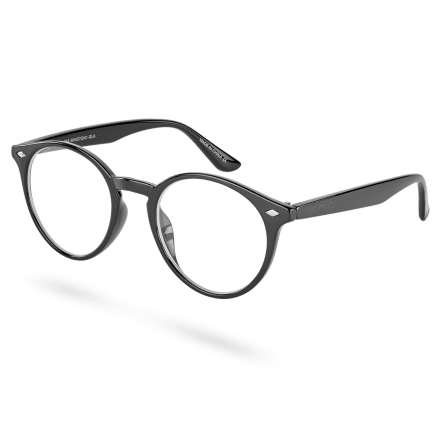 Winston Sorte Briller med Klart Glas