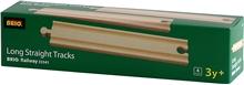 BRIO 33341 Suora pitkä kisko 1 set
