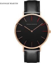 Hannah Martin Watch Women Watches Minimalist Top Brand Luxury Women's Watches Fashion Ladies Watch Leather Clock zegarek damski