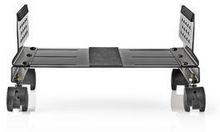 Nedis Ergonomiskt stativ för stationär dator | Justerbar bredd | 4 låsbara casterhjul | Svart