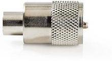 Nedis PL259-kontakt | Hane | för RG59-koaxialkabel | 25 st | Metall
