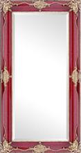 Steve Art Gallery Spegel i röd, yttermått 56x106 cm