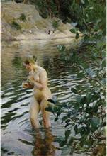 Steve Art Gallery huttrande flicka,Anders Zorn,60x40cm