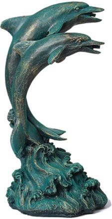 Steve Art Gallery Delfiner, fontän för trädgården 27x23x51 cm