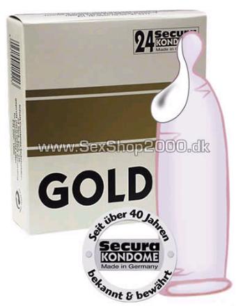 24 stk. Secura - Gold Kondomer