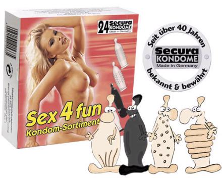 24 stk. Secura - Sex4fun Kondomer