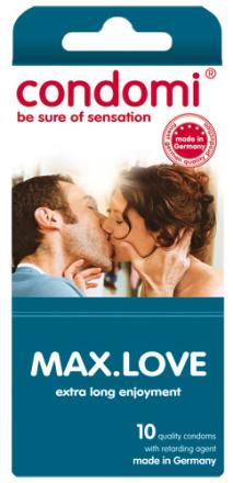 10 stk. CONDOMI - Max Love Kondomer