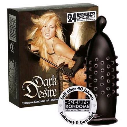 24 stk. Secura - Dark Desire Kondomer