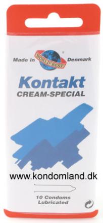 10 stk. WORLDS BEST - Kontakt Cream-special kondomer