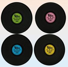 Bordstablett vinylskiva 39 cm 4-pack