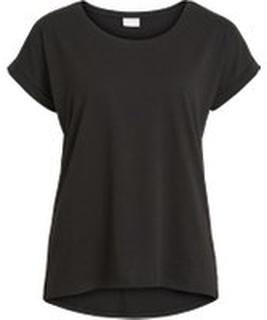VILA Rundhalset Basic T-shirt Kvinder Sort