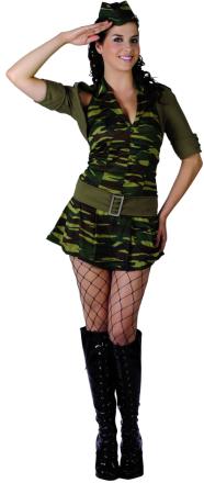 Marsch - Militärdräkt för vuxna Small (38)