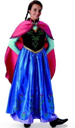 Frozen Anna Kostume Voksen - Vegaoo.dk