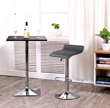 New 2pcs/set Synthetic Leather Adjustable Swivel Bar Stools Chairs Pneumatic Heavy-duty Counter Pub BarStool HWC
