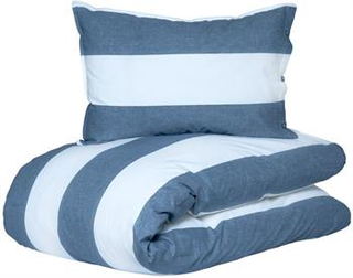 Sengetøj - 140x200 cm - Wave blue - Microfiber sengetøj