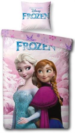 Frozen sengetøj - Anna og Elsa - 140x200 cm - 100% bomuld - Home-tex