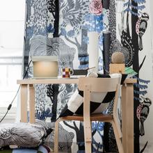 Veljekset tyynynpäällinen 50x50 cm, Suomi 100 musta-valkoinen