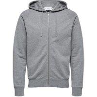 SELECTED Økologisk Bomulds Sweatshirt Mænd Grå - BESTSELLER