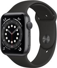 Watch Series 6 (6. Gen 2020) GPS + Cellular 44mm Sort Gummirem Sort