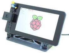"""Raspberry Pi 7"""""""" Touchscreen Case - Black Lego (Lego studs on front)"""
