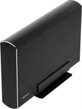 "HD kabinett 3,5"""" SATA 6Gb USB 3.0 Aluminium Svart"