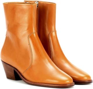 Isabel Marant västra hälen ankel boots i Camel läder 36