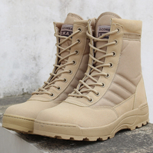 SWAT Spring Military Leather Boots Men's Combat Bot Infantry Tactical Boots Askeri Bot Army Bots Outdoor Climbing Hiking Boots